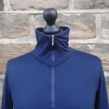 Merino Zip Top Navy